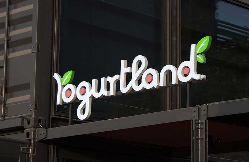 Acrylic Signage of Yogurtland Retail